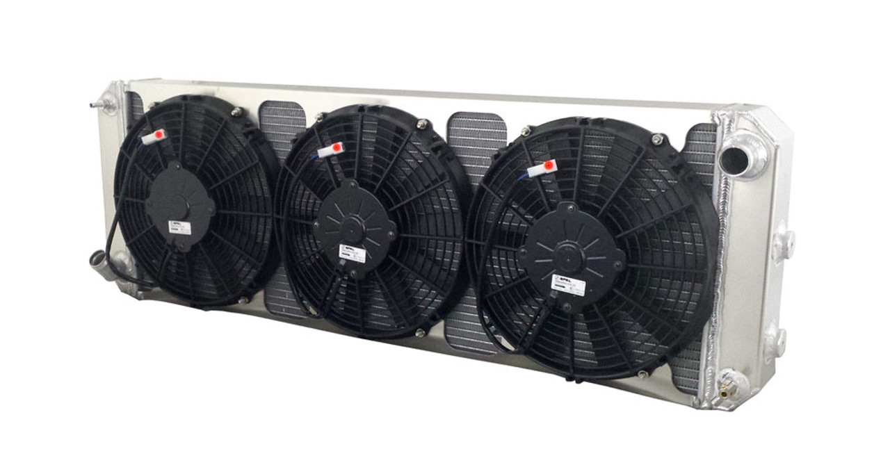 High Performance 1988-2004 LOTUS Esprit Aluminum Radiator with mounted  electric fans.Wizard Cooling