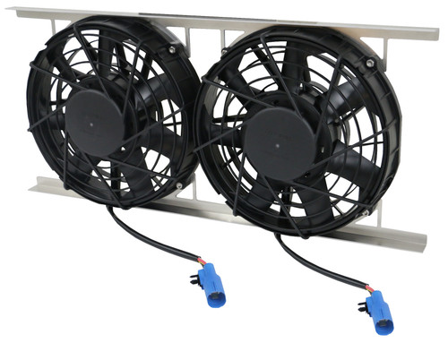 12 U0026quot  Dual Brushless Spal Pusher Fans W   Mounting Bracket