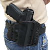 Deep Carry DC-1 configured as a belt holster. Black on Black