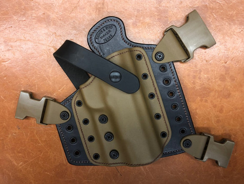 DC-4 Chest Holster Coyote on Black