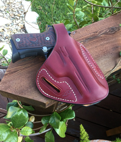 Pancake holster.- Black Cherry