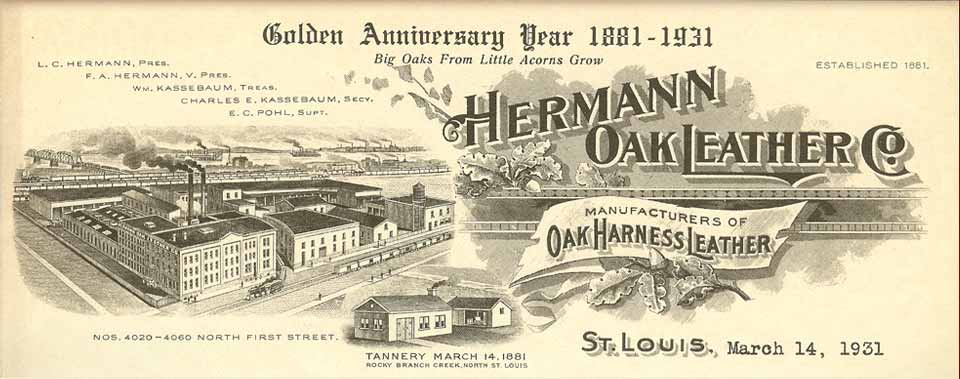 Why We Use Hermann Oak Leather