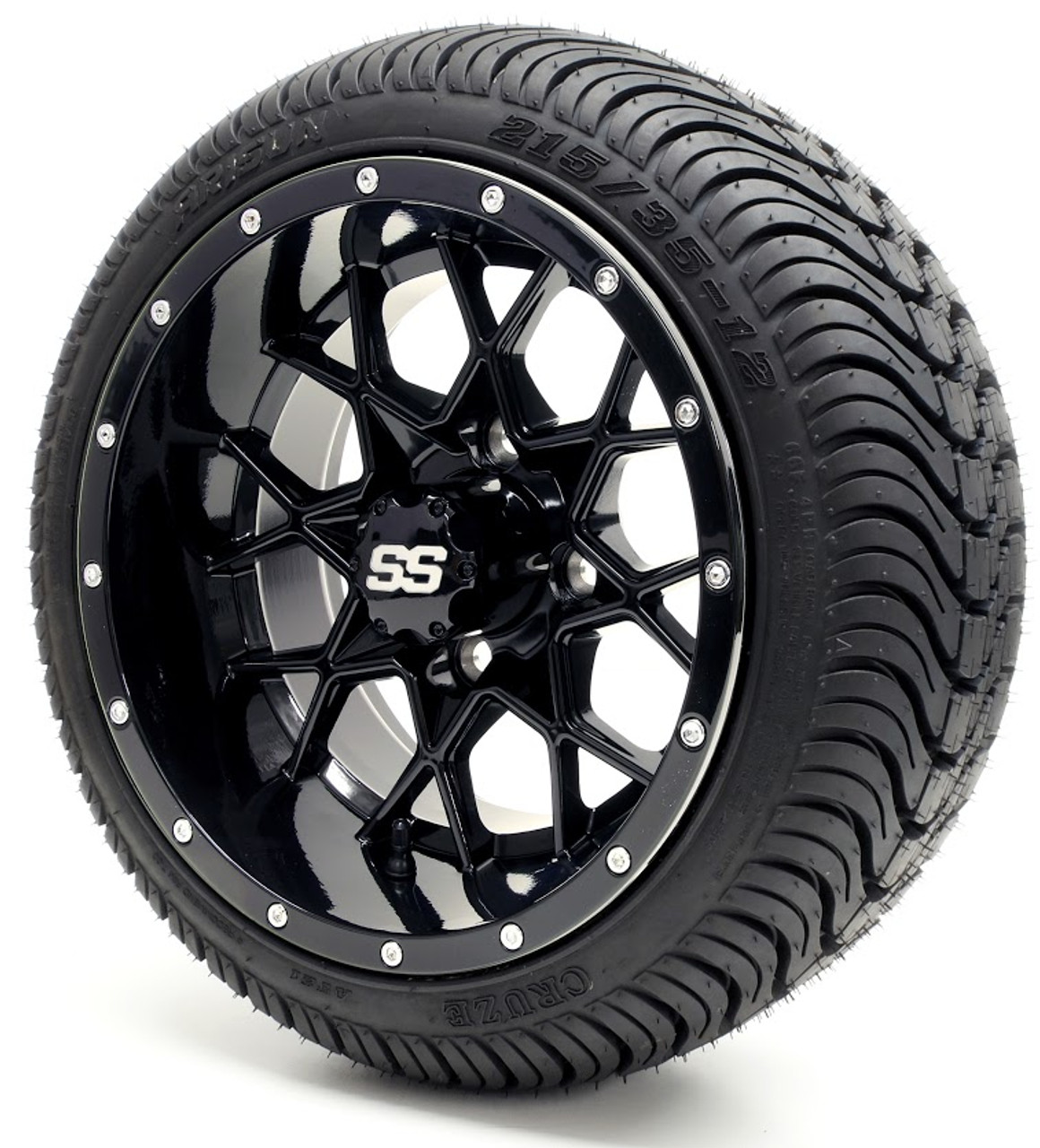 GTW Vortex SS Gloss Black Wheels with Low ProTire Options ...