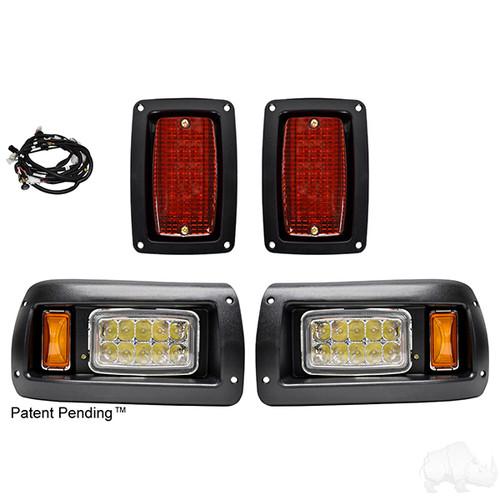 club car ds led headlight and tail light kit - adjustable