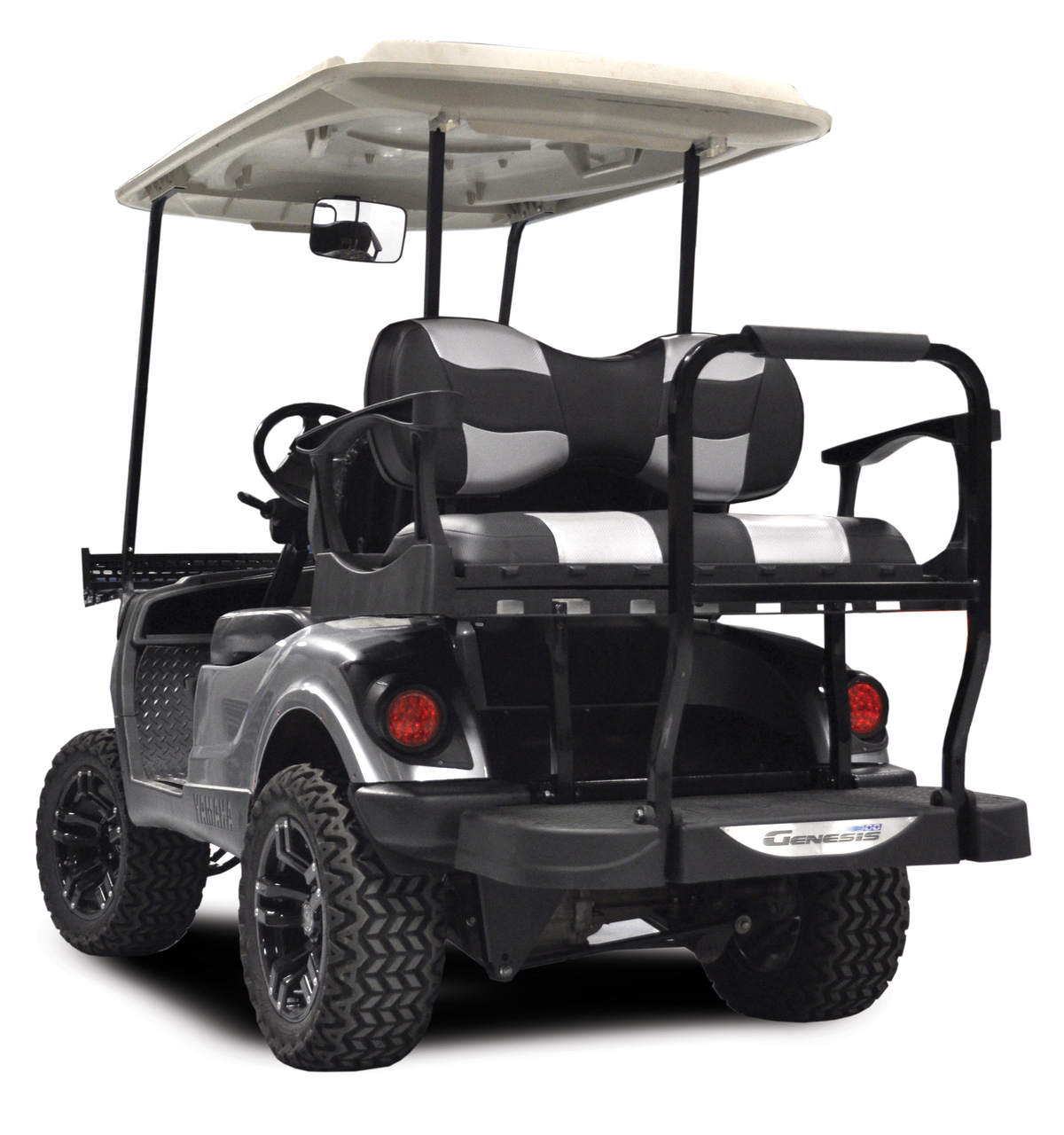Picture of: Madjax Genesis 300 Ezgo Rear Flip Seat Kit With Aluminum Frame Deluxe Cushions For Txt Rxv Golf Cart King