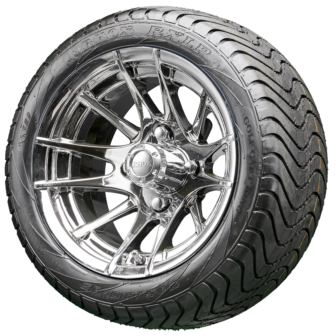 "RHOX 12"" RX102 Chrome Wheels and Low Pro Tires Combo ..."