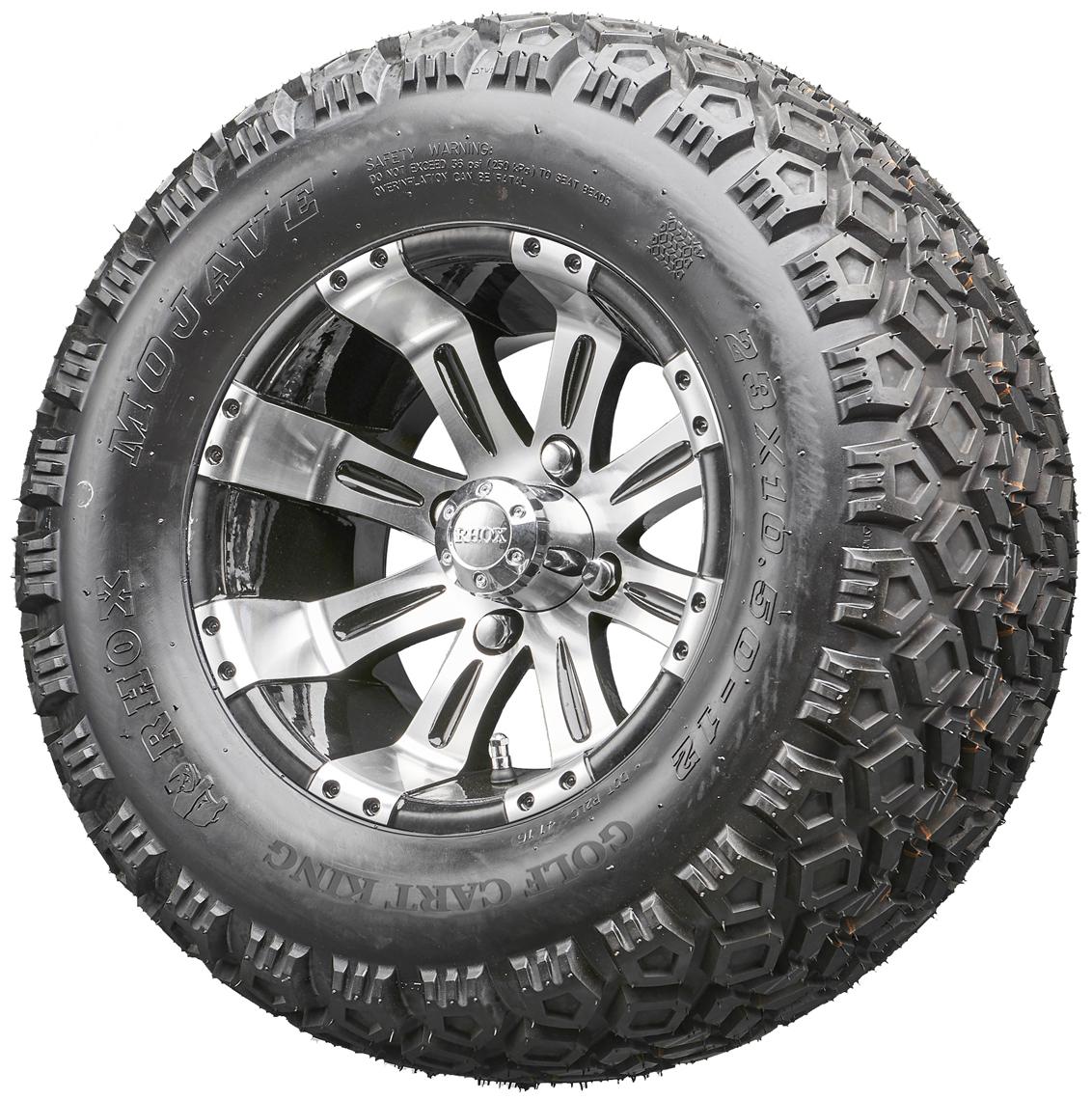 d0cf4e466a3 Golf Cart Wheels and Tires - RHOX RX180 Machined 12
