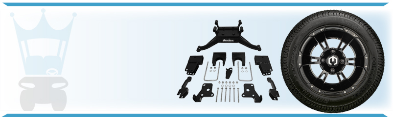 Golf Cart Wheel, Tire & Lift Kit Combo