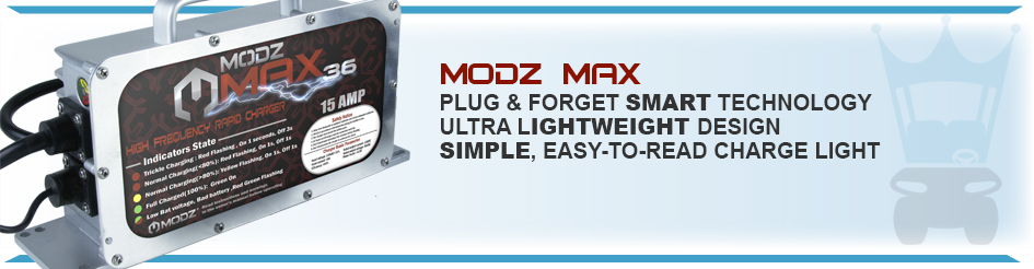 modz max golf cart battery chargers