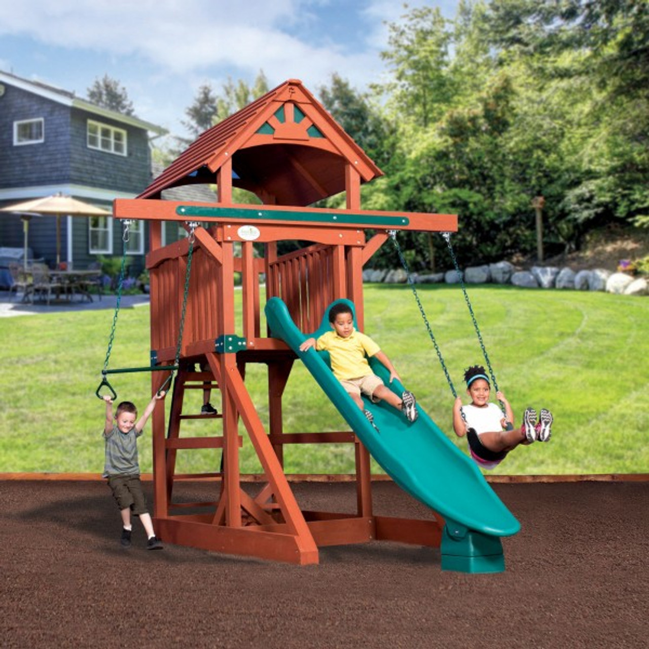 Adventure Treehouse Junior Space Saver Swing Set From Swing Sets