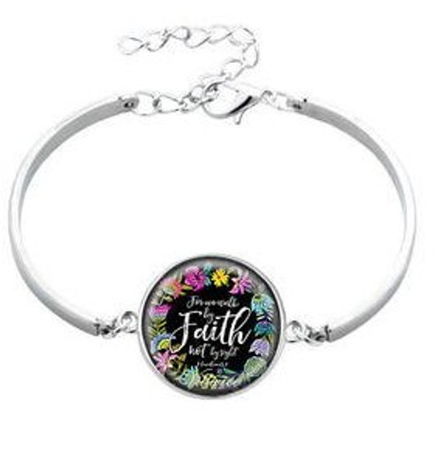 Scripture Bracelet - Faith (Silver)