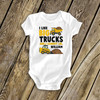 Truck shirt boy or girl I like big trucks funny personalized Tshirt