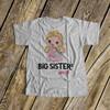 Big sister to twins shirt big sister squared personalized stick figure Tshirt