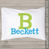 Personalized monogrammed travel or toddler pillow and pillowcase