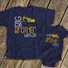 Big brother Lil brother construction truck DARK sibling Tshirt set