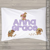 Puppy girl personalized pillowcase / pillow