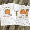 Big sister to be shirt little pumpkin big news pregnancy announcement Tshirt