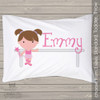 Ballerina and barre personalized pillowcase / pillow