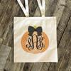 Halloween bag monogram chevron pumpkin trick or treat bag