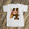 First birthday shirt li'l turkey 1st (or any) birthday childrens personalized Tshirt