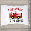 Fireman with fire truck personalized pillowcase / pillow