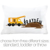Construction truck personalized pillowcase / pillow