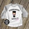 Kindergarten graduation shirt funny nailed it girls personalized raglan style graduation Tshirt