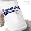 Dog shirt sports fan baseball or soccer personalized dog Tshirt