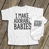 I make adorable babies dad Tshirt and adorable baby bodysuit ORIGINAL design custom gift set