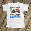 Big brother to be shirt colorful i'll drive a big tractor pregnancy announcement Tshirt