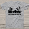 "Grandpa shirt funny parody ""The Grandfather"" Tshirt personalized with grandchildren names"
