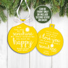 Holiday ornament you are my sunshine my only sunshine front and optional back print Christmas ornament
