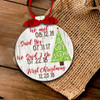 Holiday ornament Christmas tree couple's important dates first Christmas together personalized ornament