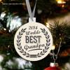 Holiday ornament worlds best grandpa Christmas ornament