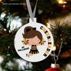 Holiday ornament cheerleader custom team personalized Christmas ornament