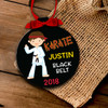 Holiday ornament martial arts girl or boy personalized Christmas ornament