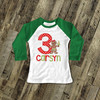 Birthday shirt gingerbread girl personalized birthday raglan Tshirt