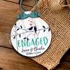 Holiday ornament love birds on branch couple's first Christmas together personalized ornament