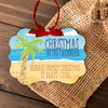 Holiday ornament family reunion destination personalized Christmas ornament