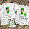 Big sister or big sister to be shirt St. Patricks Day front/back pregnancy announcement Tshirt