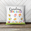 Grandma love bugs throw pillow