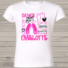 Dance shirt girl I love dance collage personalized Tshirt