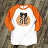 Monogram pumpkin ADULT raglan shirt