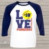 Softball mom three quarter raglan baseball shirt LOVE