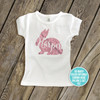 Glitter Easter Bunny personalized GIRLS CUT shirt
