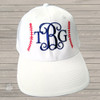 Embroidered monogram baseball hat