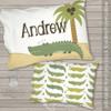 Alligator crocodile personalized travel pillow