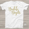 Tenth birthday double digits sparkly glitter Tshirt