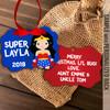 Superhero girl ornament