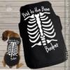 Halloween dog shirt skeleton personalized dog Tshirt